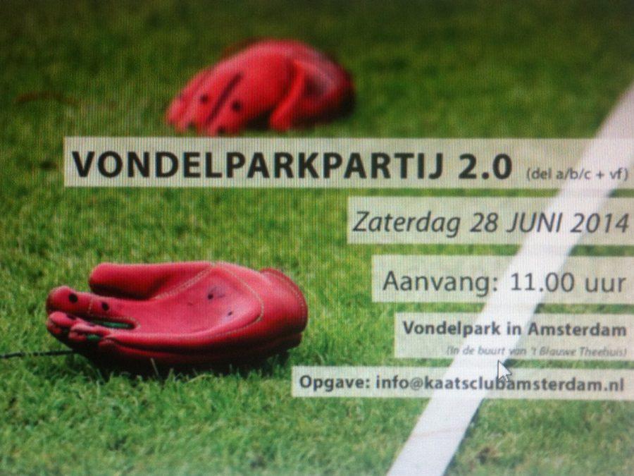 Zachtebal kaatspartij Vondelpark Amsterdam