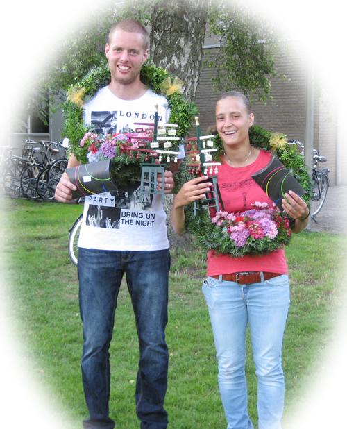 Ingrid van der Veen wint samen met Peter Tolsma het Pearke Keatesen in Tytsjerk