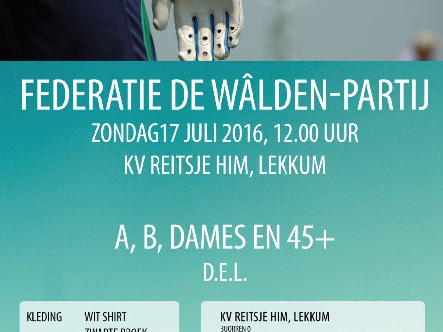 Federatie de Wâlden-partij te Lekkum.