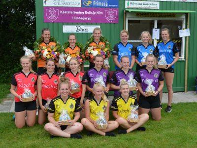 KNKB Dames 1e Klasse VF Winnaars Aletta van Popta Groningen, Mintje Meintema Dronryp en Miranda Scheffer Menaam